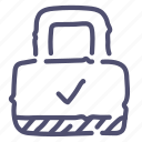 lock, padlock, password, protection icon