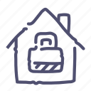 house, locked, protection, security icon