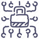 data, lock, locked, protected icon