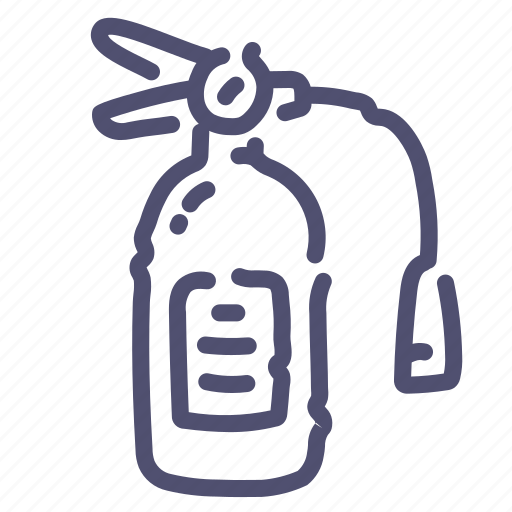 extinguisher, fire, firefighters, security icon