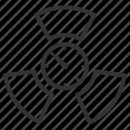 becquerel, curie, measurement, metric, radioactive, radioactivity, unit icon