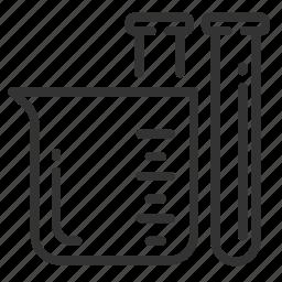 beaker, cc, cubic centimeters, measurement, metric, unit, volume icon
