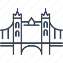 bridge, city, kingdom, united icon