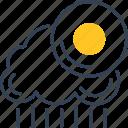 kingdom, rain, sun, united, weather icon