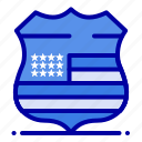 security, shield, sign, usa icon