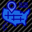 american, location, map icon