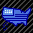 american, map, thanksgiving, usa icon