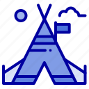 american, camp, free, tent icon