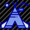 american, camp, tent