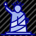 landmarks, liberty, of, statue, usa icon