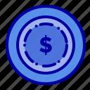 american, dollar, maony icon