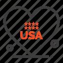 american, heart, love, usa