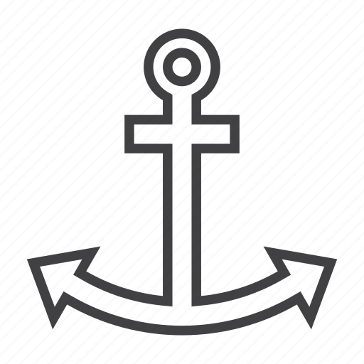 anchor, marine, nautical icon