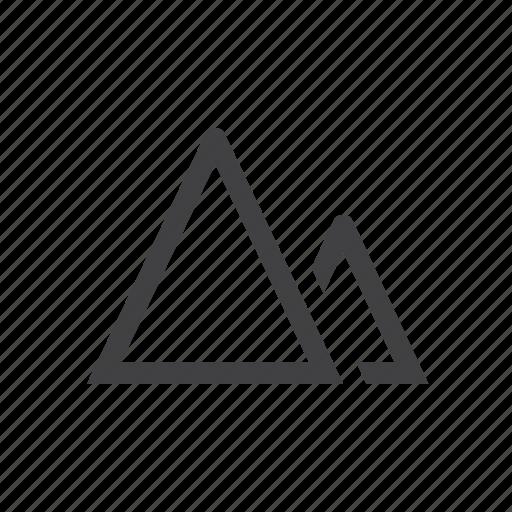 mountains, terrain icon