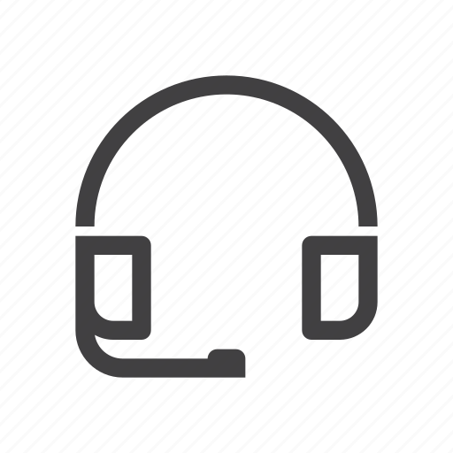 headphone, headset, online, support icon