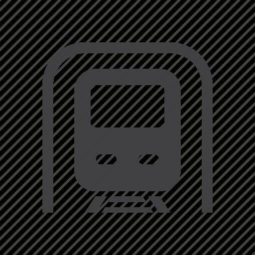 metro, subway, train, transport icon