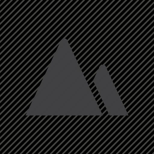 mountain, terrain icon