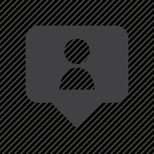 person, pin, user icon