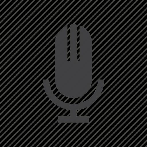 microphone, old, record, retro, voice icon