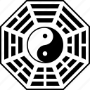 bagua, daoism, feng, shui, taoism, trigrams, ying yang icon