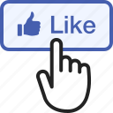 button, click, hand, like, tap, thumbs, up icon