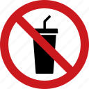ban, beverages, drink, drinks, no, sign, soda