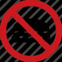 ban, cheeseburger, food, hamburger, no, outside, sign icon