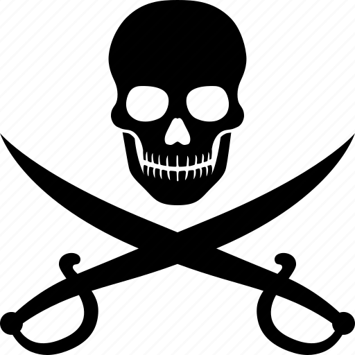 crossed, piracy, pirate, pirates, skull, sword, swords icon