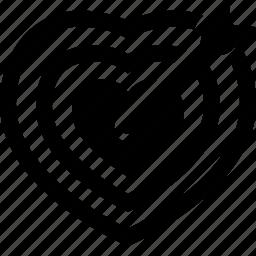 arrow, bullseye, cupid, heart, love, lovestruck, target icon
