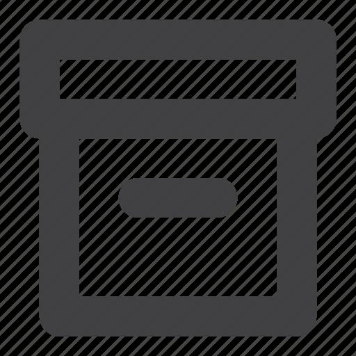 archive, box, file, office icon