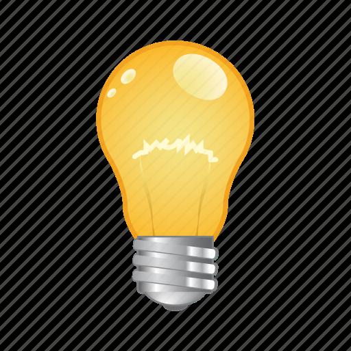bulb, electric, idea, light, lightbulb icon