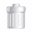 cancel, delete, garbage, remove, trash icon