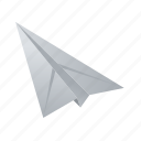 airplane, note, paper, plane icon