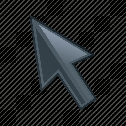 arrow, location, pin, pointer icon