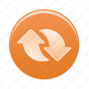 arrow, arrows, recycle, sign, upload icon