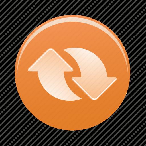 arrow, arrows, recycle, sign, upload icon