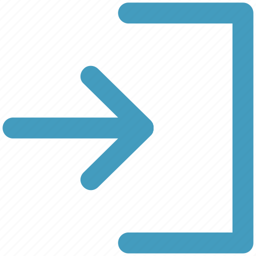 arrow, direction, end, right, swipe icon