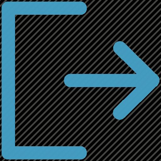 arrow, direction, end, left, swipe icon
