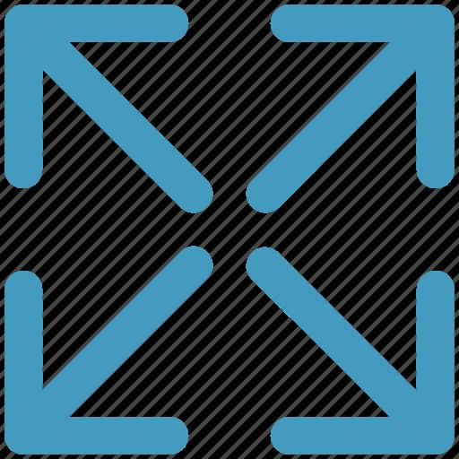 arrow, corner, four directions, four way, move, way icon