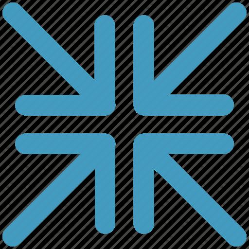 arrow, arrows, corner, four, pointer icon