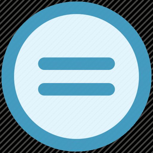 calculator, equal, equal sign, math, symbols icon