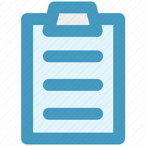 clipboard, file, page, paper, pencil, sheet icon