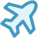 aircraft, airplane, flight, plane, transport, travel icon