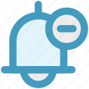 alert, bell, close, remove, ring, school bell icon