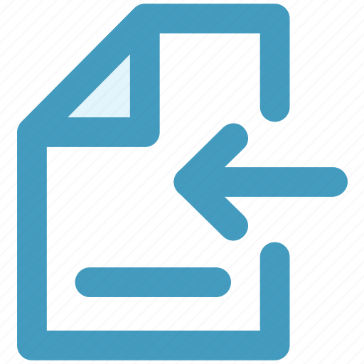 document, file, left, page, paper, sheet icon