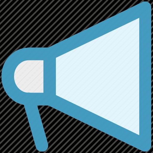 advertise, loudspeaker, megaphone, promote, round, volume icon