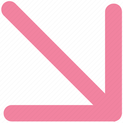 Arrow, cursor, down, mouse, mouse arrow, pointer icon - Download on Iconfinder