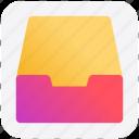 achieve, documents, draw, folder, mailbox icon