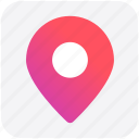 location, pin, sticky, map, world location icon