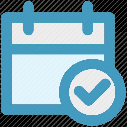 accept, agenda, appointment, calendar, day, right icon
